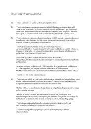 Oulun Golf Oy:n yhtiöjärjestys