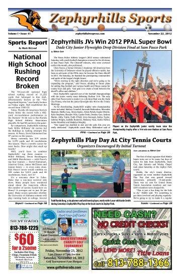 Zephyrhills Sports - Pasco News Publications