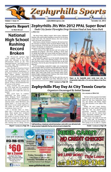 Zephyrhills Sports - Pasco News Publications