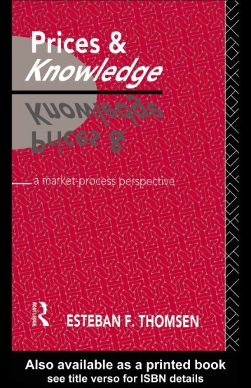 Prices and knowledge: A market-process perspective