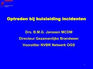 Presentatie Buisleidingen Ben Janssen.pdf - BrandweerKennisNet