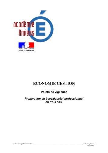 cahier des charges - Economie et Gestion au lycée professionnel