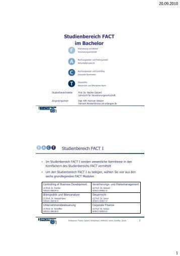 Studienbereich FACT im Bachelor - FACT- Finance Auditing ...