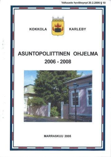 Asuntopoliittinen ohjelma - Kokkola