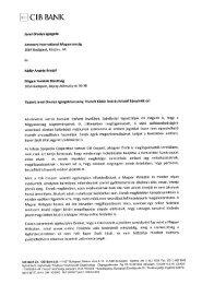 CIB BANK - Magyar Helsinki Bizottság