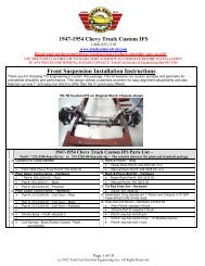 1947-1954 Truck - Custom IFS Kit - Total Cost Involved