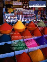 Pigments: Organic, Inorganic & Specialty - The Freedonia Group