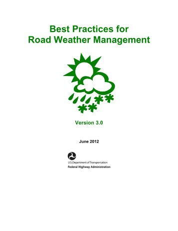 Road Weather Management Program - FHWA Operations - U.S. ...