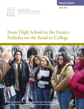 From High School to the Future: Potholes on the ... - DiversityWeb