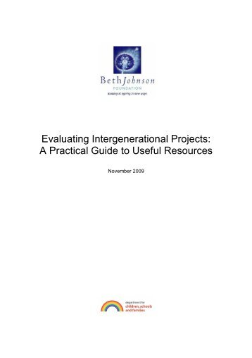 Evaluating Intergenerational Projects: A Practical Guide to Useful ...