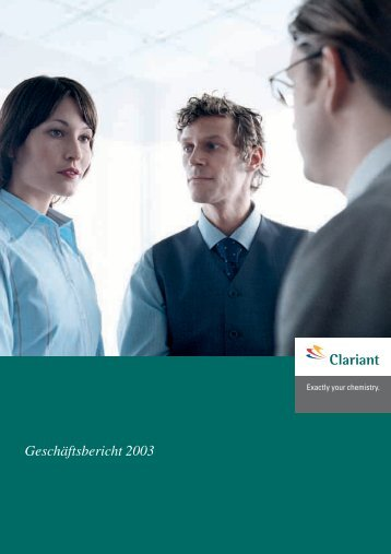 Geschäftsbericht 2003 - Clariant