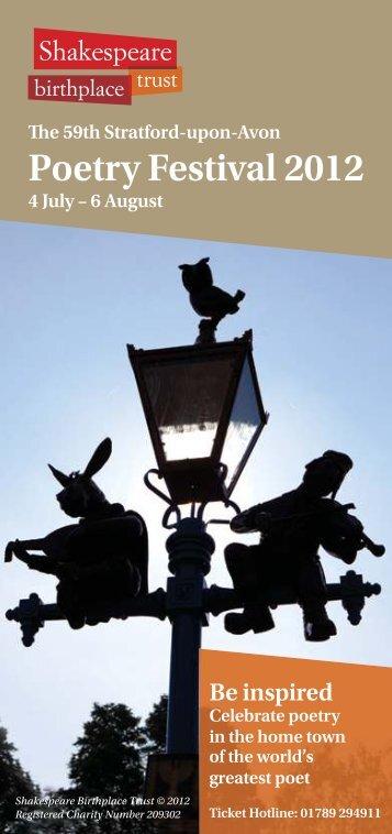 Poetry Festival 2012 - Fosse Deanery