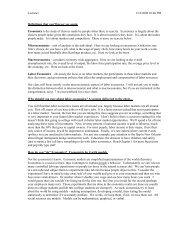 ECON 325 – Labor Economics - Nicholls State University