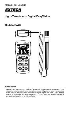 Manual del usuario Higro-Termómetro Digital ... - Duarte Neves Lda