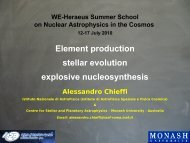Element production stellar evolution explosive nucleosynthesis