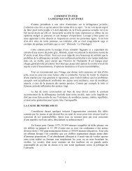 1 COMMENT ÉVITER LA DÉLINQUANCE JUVÉNILE Comme ...