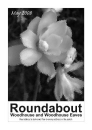 Roundabout May 08 - Woodhouse Parish Council