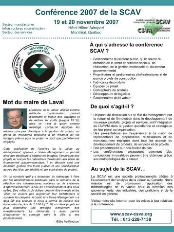 Diapositive 1 - SCAV-CSVA