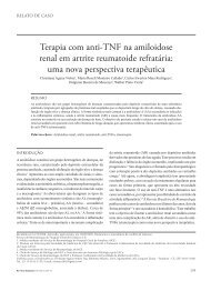 Terapia com anti-TNF na amiloidose renal em artrite ... - SciELO