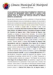 ata de abertura carta convite nº 03 - câmara municipal de mairiporã