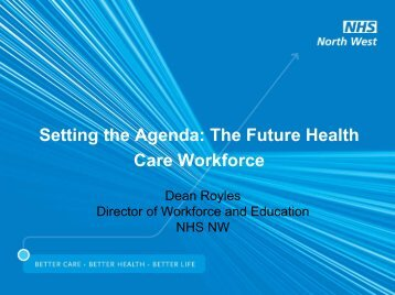 Setting the Agenda: The Future Health Care Workforce - Institute of ...