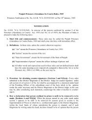 Punjab Prisoners (Attendance In Courts) Rules, 1969 ... - Chandigarh