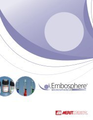 Embosphere Microspheres are available in six size ... - Merit Medical