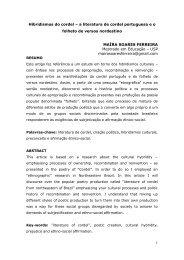 Hibridismos do cordel – a literatura de cordel portuguesa e o folheto ...