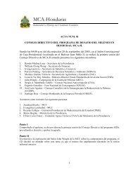 Acta 01 - Cuenta del Milenio - Honduras