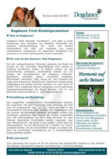InfoAnmFrgTrickEinsteiger 21.02.09 - Dogdance - Katharina Henf