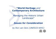 """""""World Heritage and Contemporary Architecture -- Managing the ..."""