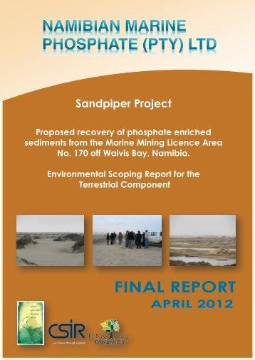 Sandpiper Project - Enviro Dynamics Namibia