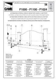 F1000 - F1100 - F1024 - Antriebe 24