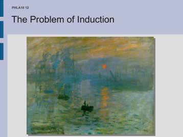 The Problem of Induction
