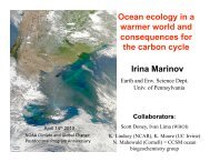 Ocean ecology in a warmer world and consequences for the carbon ...
