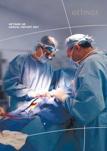GETINGE AB ANNUAL REPORT 2007 - Alle jaarverslagen