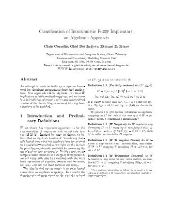 Classification of intuitionistic fuzzy implicators