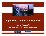 Impending Climate Change Law