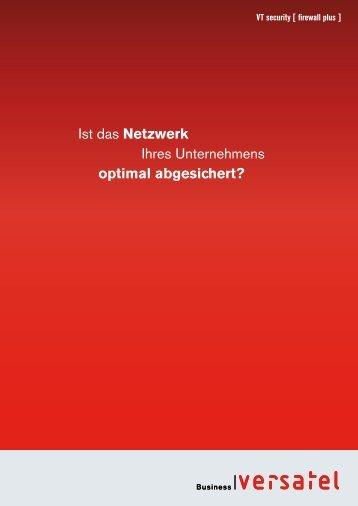 VT security [ firewall plus ] - Versatel