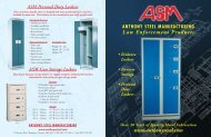 Heavy Duty Evidence Locker - Anthony Steel Manufacturing