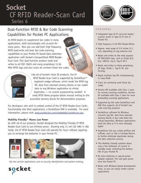 Socket CF RFID Reader-Scan Card