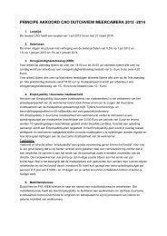 Principeakkoord CAO Dutchview 2012-2014 - FNV Kiem