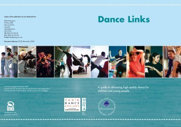 DCMS Dance Links Brochure - Cornwall Healthy Schools