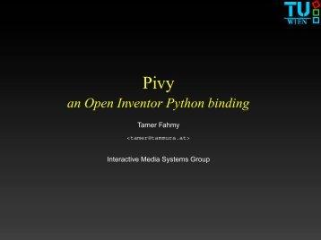 Pivy (Open Inventor Python binding)