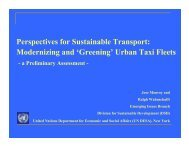 Modernizing and 'Greening' Urban Taxi Fleets