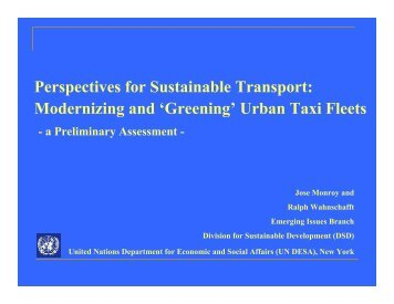 Modernizing and 'Greening' Urban Taxi Fleets