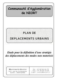 Étude modes doux - Communauté d'Agglomération de Niort