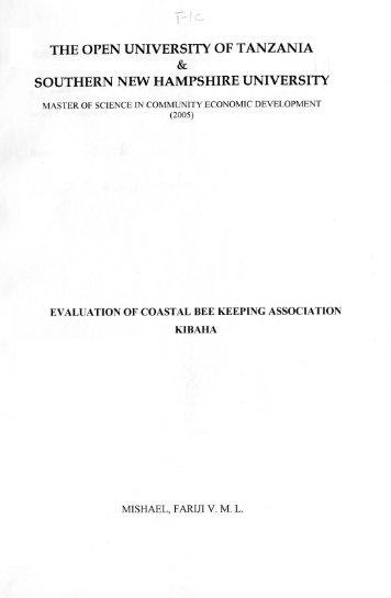Kibaha - SNHU Academic Archive