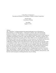 A New Wave of Autocracy? Transnational Diffusion of Techniques to ...