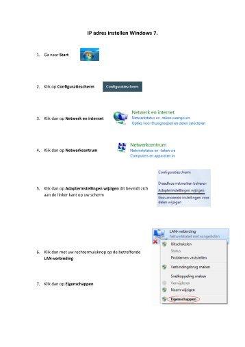 Ip adres instellen Windows 7 - WiFi Shop